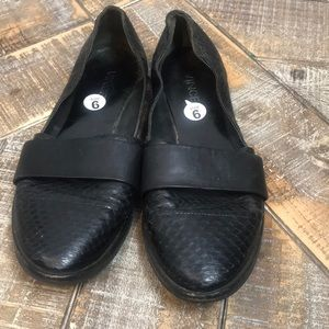 Vince slip on shoes with snakeskin print. Size 6.